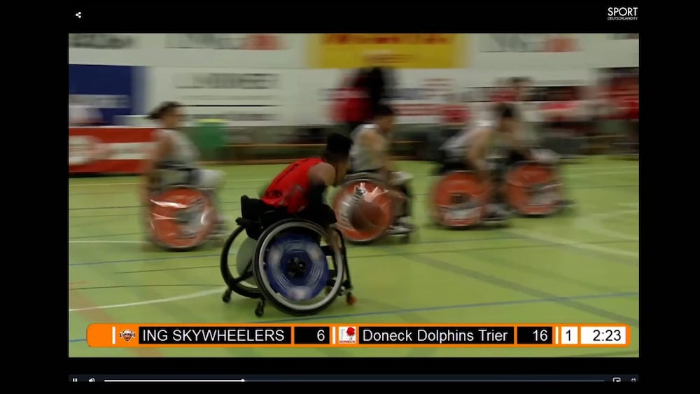 My style of play in wheelchair basketball